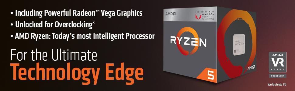 AMD RYZEN 5 2400G Quad Core 3 6 GHz (3 9 GHz Turbo) Desktop Processor -  Socket AM4