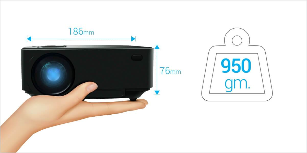 portronics beem 100 projector size - ultra portable projector you can carry easily anywhere