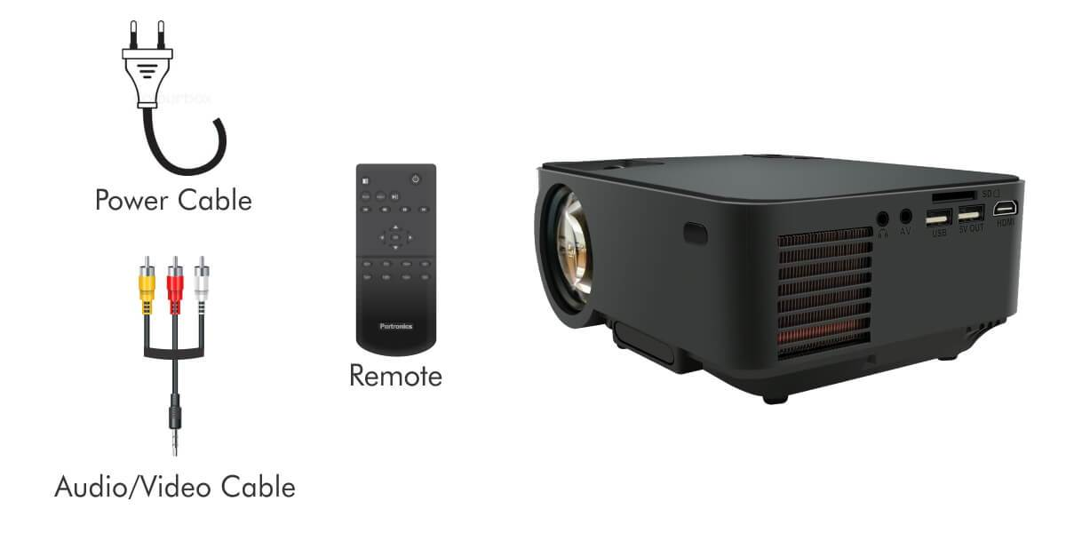 portronics beem 100 projector spec